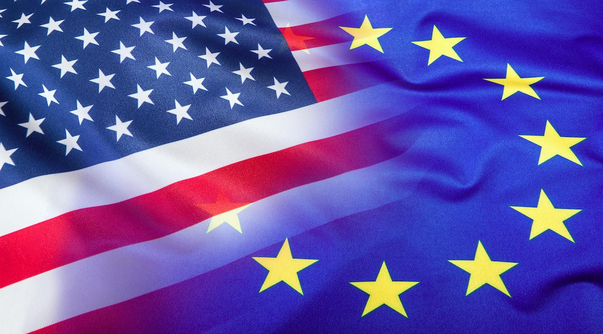USA i EU zastave